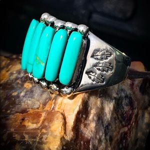 SOLD American Zuni turquoise ring Sterling 🌵☀️